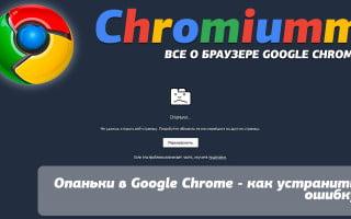 Опаньки в Google Chrome – как устранить ошибку