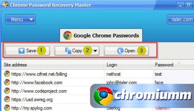 google chrome восстановить пароли google