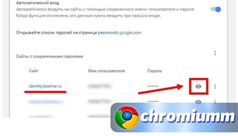 как посмотреть свой пароль в гугл аккаунте