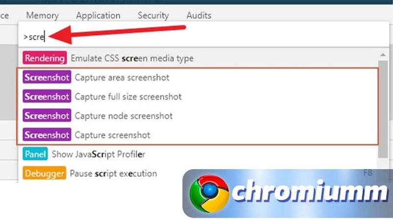 chrome скриншот всей страницы