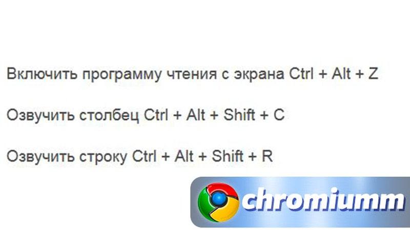 горячие клавиши гугл таблицы 27