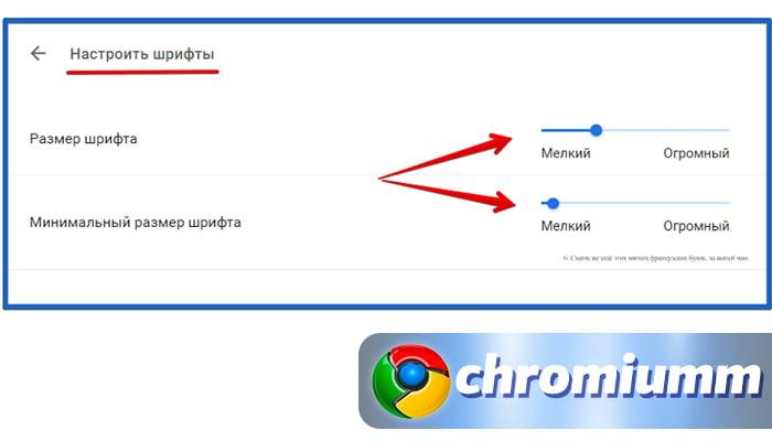 какой шрифт используется в браузере гугл хром